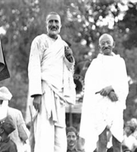 Bacha Khan and Gandhi being Cheerful